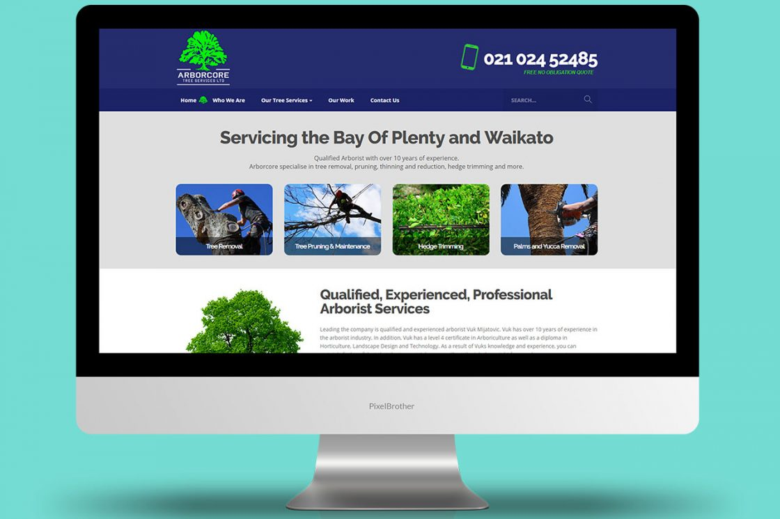 Arborcore Tree Services - Website Design and Development