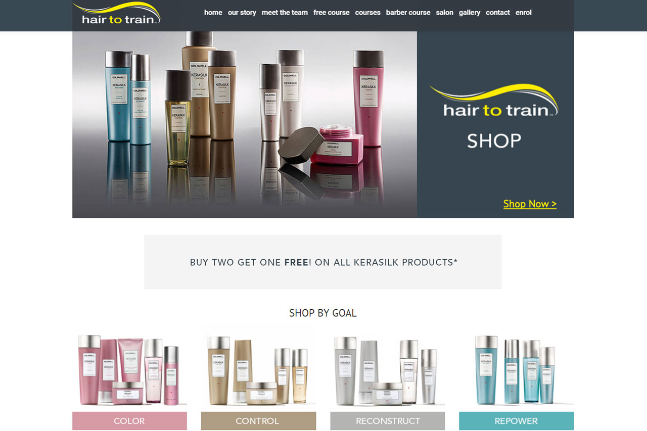 Hair to train - eCommerce Website