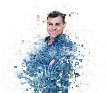 Pixelated image of Arron from our team at Mint Digital Marketing.