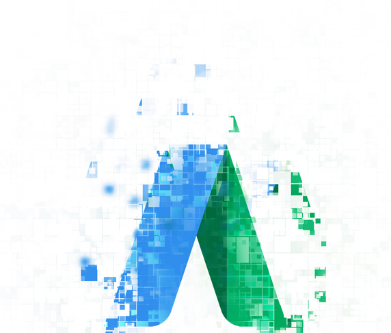 pixelated adwords logo