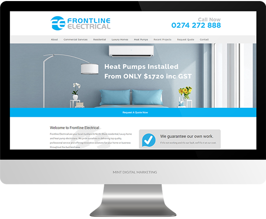 Frontline Electrical - Website Design and Development