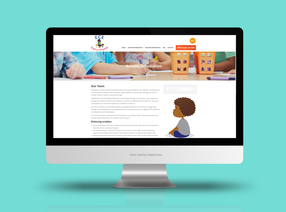 ECE Consultants - Website Design and Development