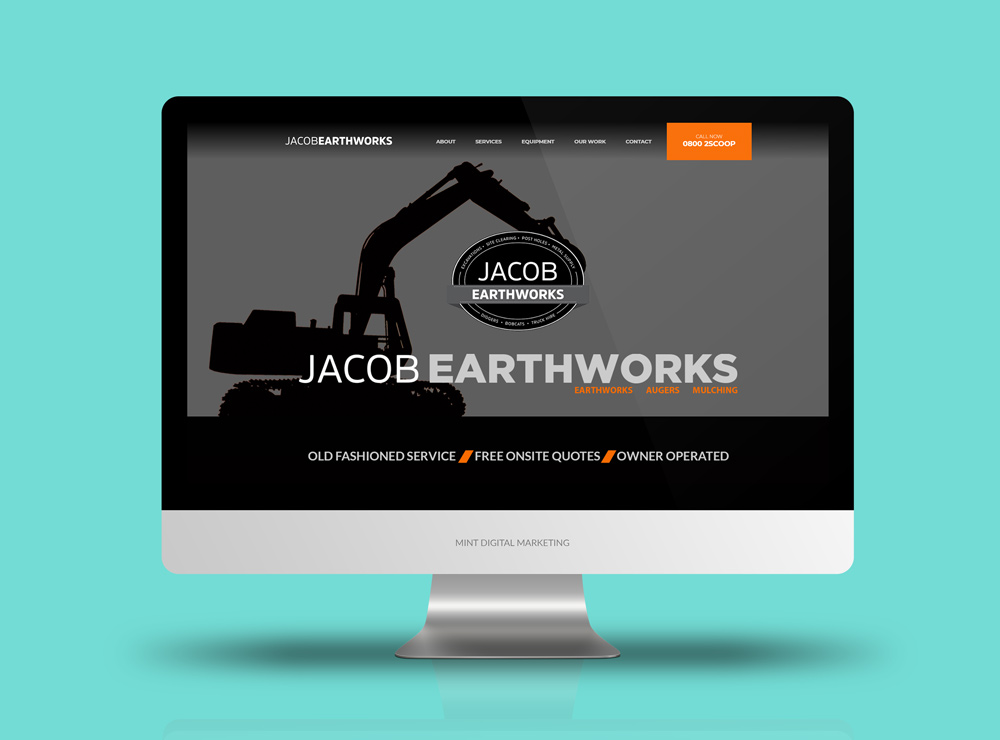 Jacob Earthworks Website Design and Development