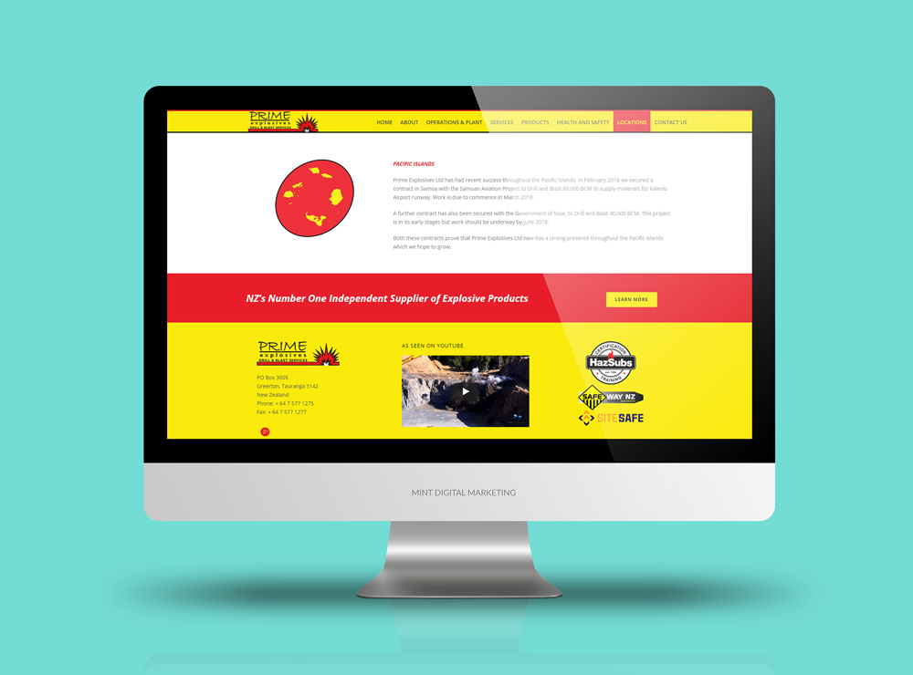 Prime Explosives Website Design & Development