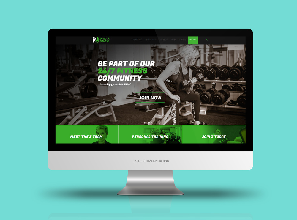 Z 24 Hour Fitness Website Design and Development