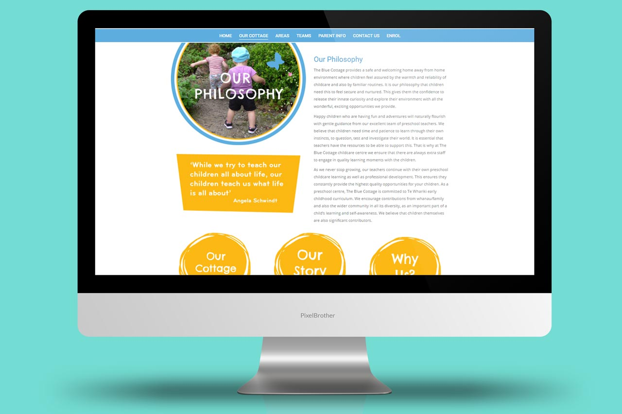 The Blue Cottage - Website Design and Development + SEO