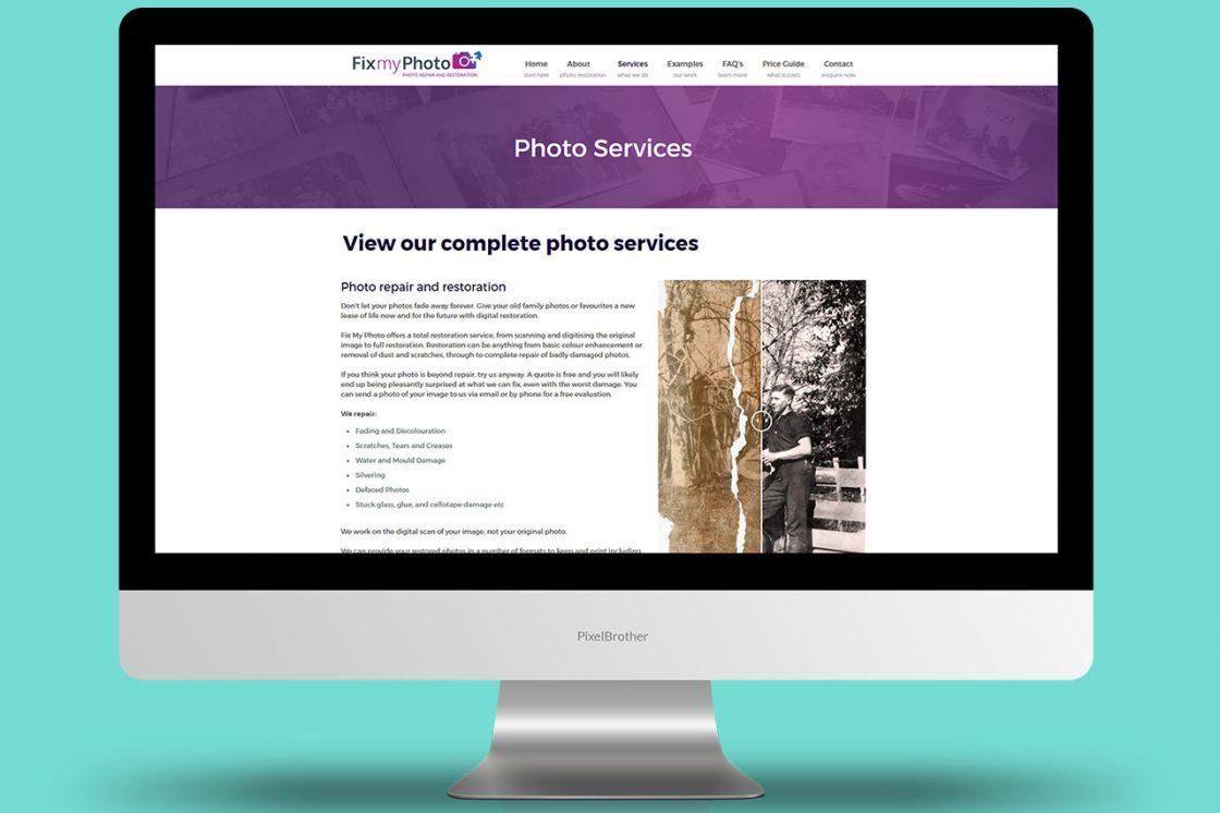 Fix My Photo - Website Design and Development + SEO