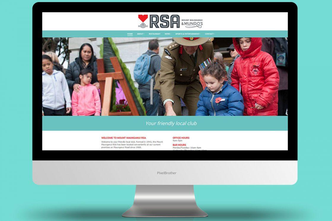 Mount Maunganui RSA - Website Design and Development
