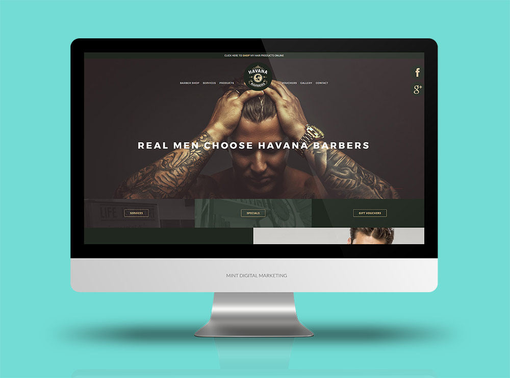Havana Barbers - Website Design and Development + Google AdWords