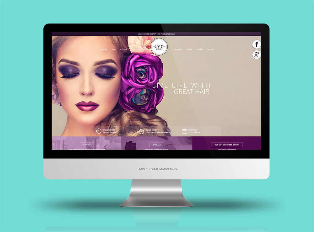 Ivy Hair - Website Design and Development + Google AdWords